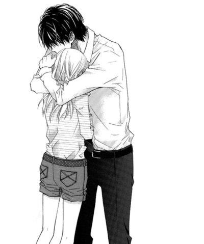 Noir et blanc - Dessin manga amoureux ...