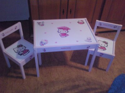 ensemble table chaises hello kitty blog de crea2titia. Black Bedroom Furniture Sets. Home Design Ideas