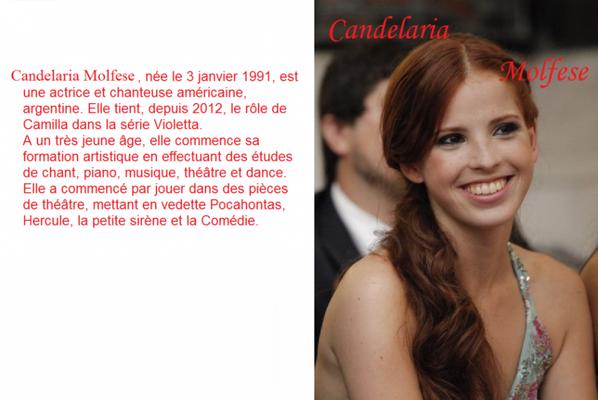 Biographie de Candelaria Molfese ( Camilla )