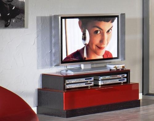 Meuble Tv Rouge : Meuble Tv Laqué Rouge Wengé 180e (acheté 299euros Il Y A 5 Mois