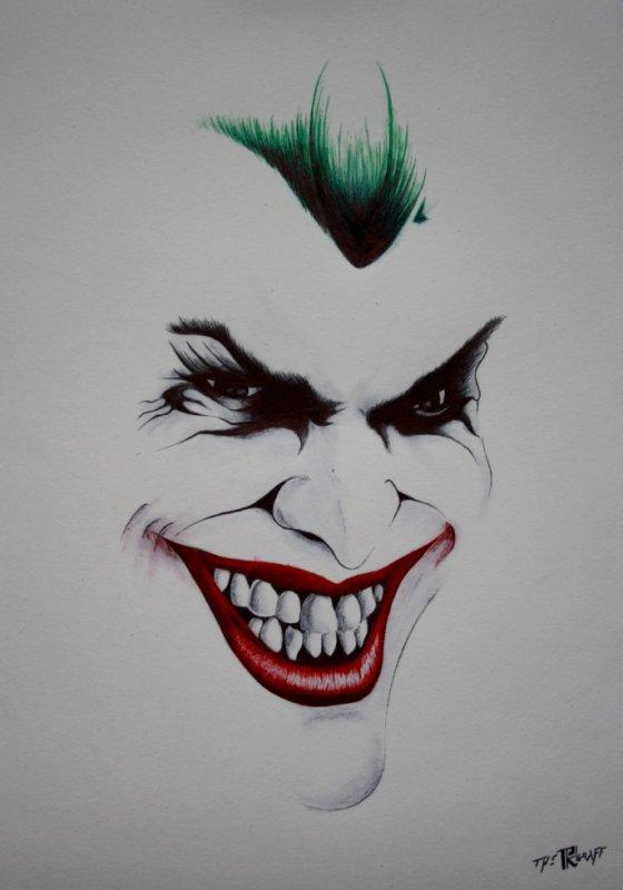 Le joker au bic mate moi sa - Le joker dessin ...