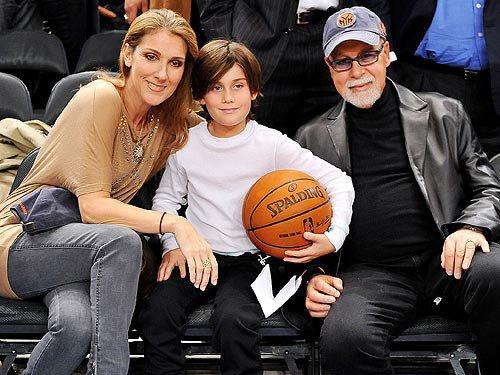 Céline Dion, son fils René-Charles et son mari René ...