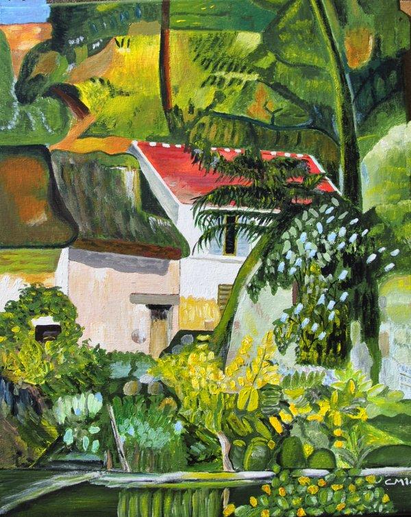 Cezanne la maison a auvert peinture faite par sm07 - Peinture faite maison ...