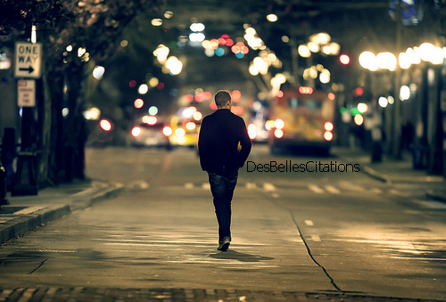 Opinion man walking down the street at night have removed