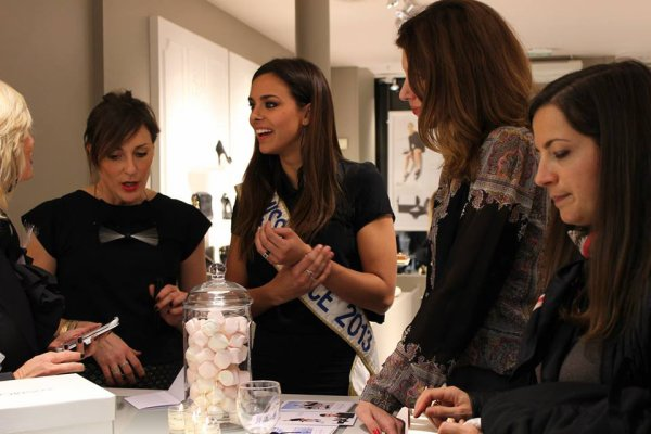 Marine Lorphelin - Inauguration boutique Cosmoparis
