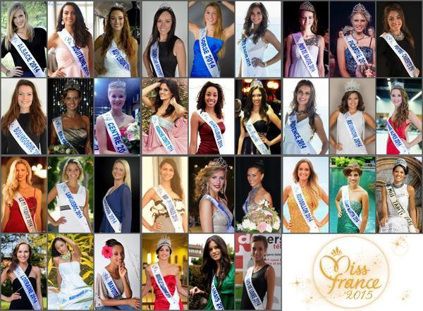 Les candidates � Miss France 2015