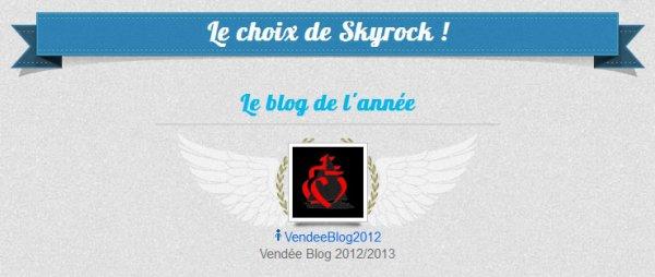 Vend�eblog2012 est Blog de l'ann�e