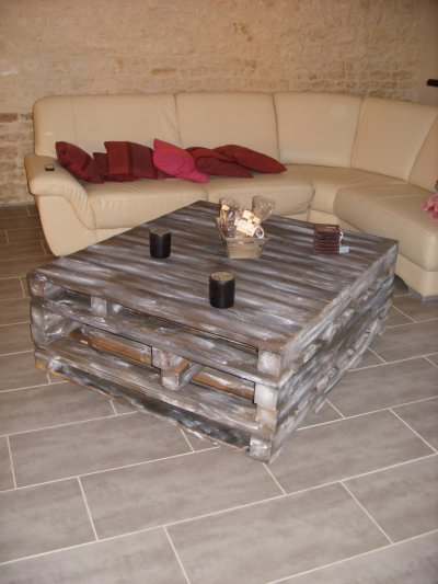 Table basse r novation de notre maison - Table basse palette bois ...