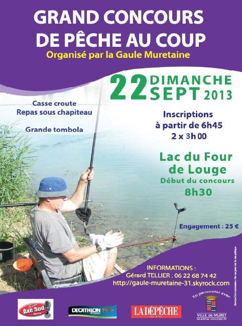 Affiche concours peche au coup du 22 septembre 2013 gaule muretaine 31 - Concours de peche au coup ...