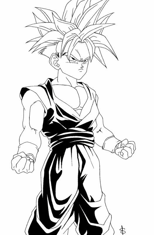Sangohan mes dessins mangas - Dessin de sangohan ...