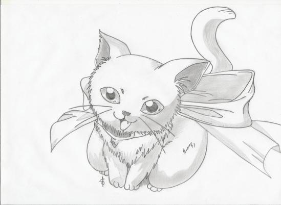Chaton mes dessins mangas - Chat dessin manga ...