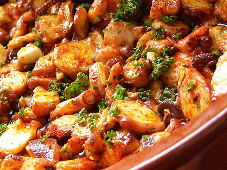 Recette cannel bordelais poulpe a la galicienne g teau aux pommes canard aux herbes - Temps de cuisson chataigne a l eau ...