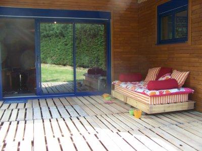 Blog de nathjn page 58 maison en bois - Terrasse en palette de recup ...