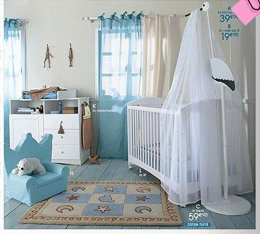 Chambre de gar on bleu et blanc blog de leparadisdesbebe for Chambre jumeaux bebe