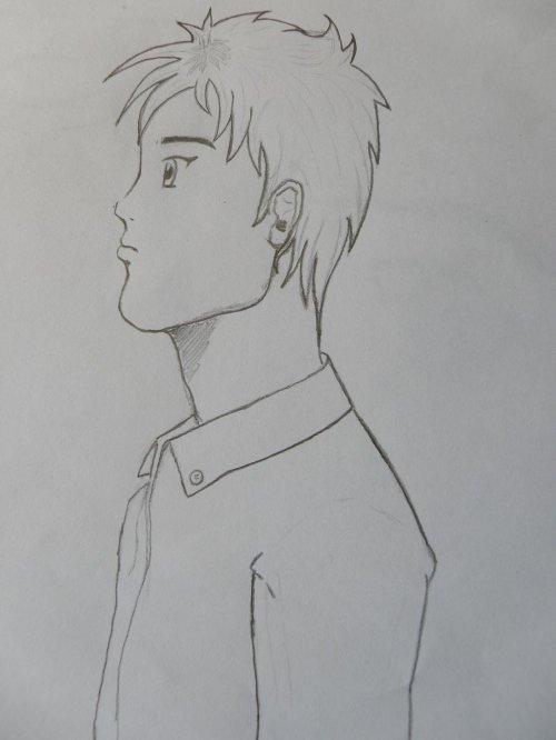 Profil gar on fait aussi sans model blog de dessin debut - Dessin profil visage ...