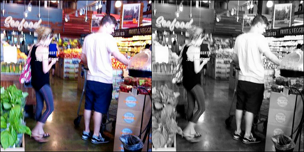 August 2014 - Emma et Evan dans le magasin Whole Foods � la Nouvelle-Orl�ans !