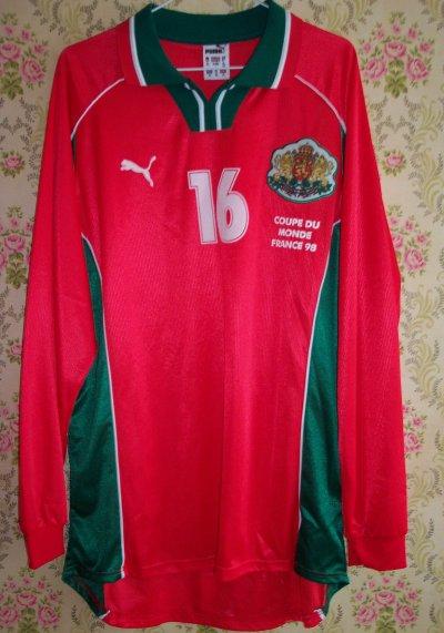Maillot bulgarie anatoli nankov wc98 maillots de football portes par des joueurs - Joueur coupe du monde 98 ...