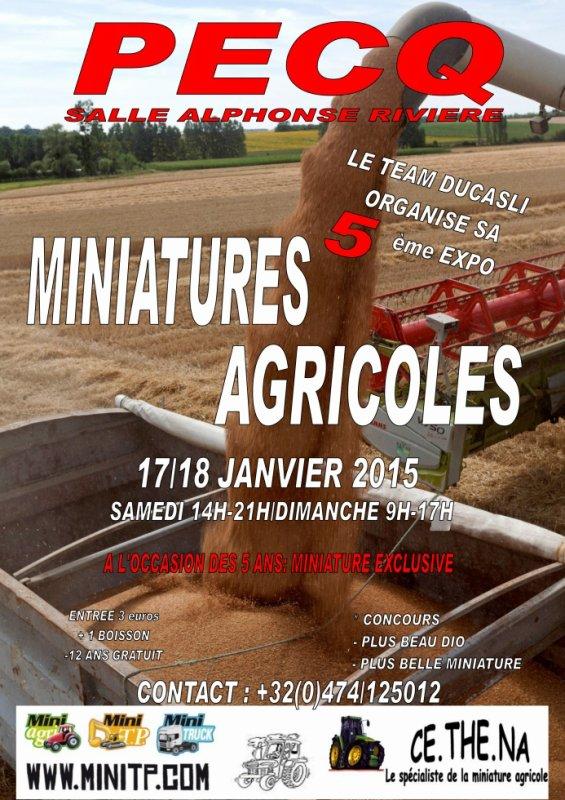5�me expo Ducasliminiagri les 17 et 18 janvier 2015