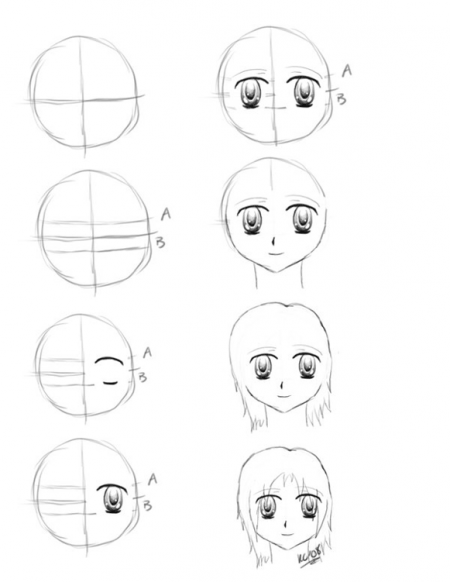 Anime Art Worksheet : Comment dessiner une manga