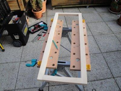 Fabrication de 2 porte avec encadrement pour placard for Fabriquer ses portes coulissantes