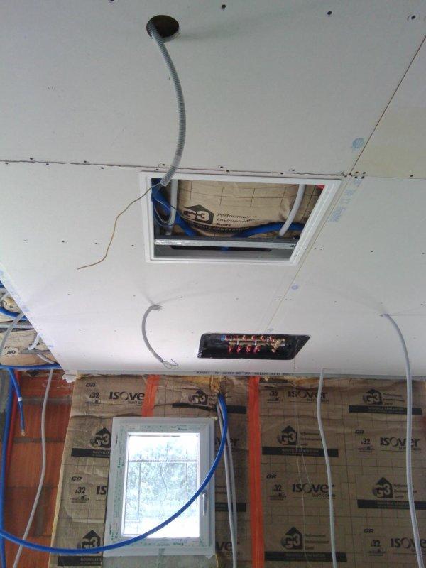 Plafond plus pose trappe de visite plus nourrice notre for Trappe de plafond
