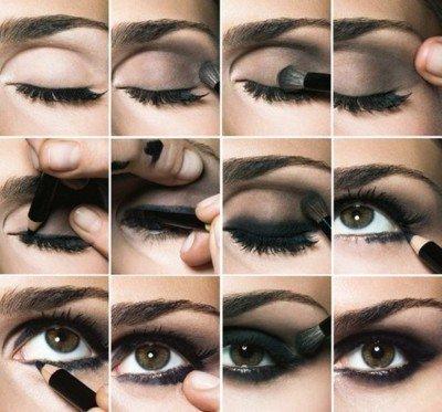 tuto maquillage 1 maquiller des yeux marrons fonc s blog de laumaelau. Black Bedroom Furniture Sets. Home Design Ideas