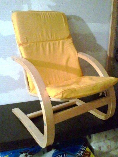 Fauteuil relax pour enfant jaune bienvenue dans mon vide grenier - Fauteuil pour enfant ...