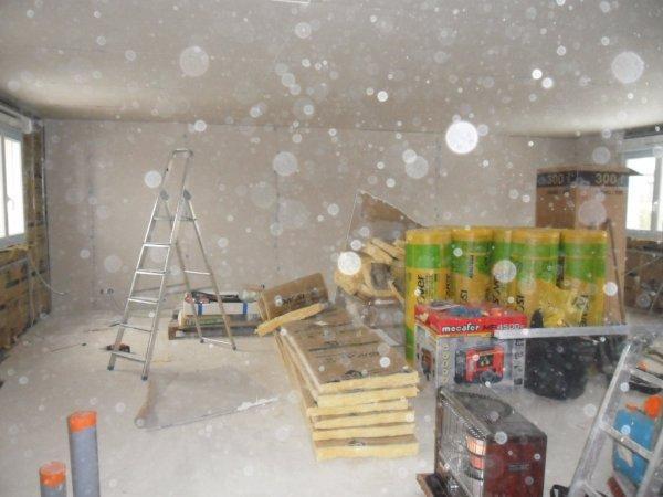 lundi 3 d cembre 2012 suite de pose de laine de verre et placo notre aventure maison mikit. Black Bedroom Furniture Sets. Home Design Ideas