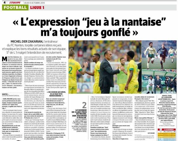 2014 Ligue 1 J10 NANTES REIMS, l'avant match, le 17/10/2014