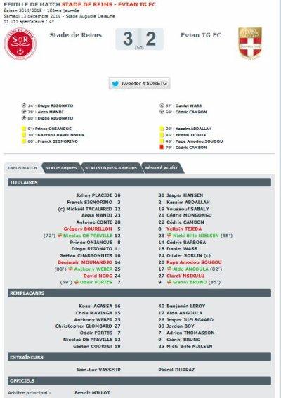 2014 Ligue 1 J18 REIMS EVIAN TG, 3-2, le 13/12/2014