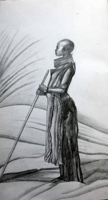 Dessin femme africaine crayon a papier drawing - Africaine dessin ...