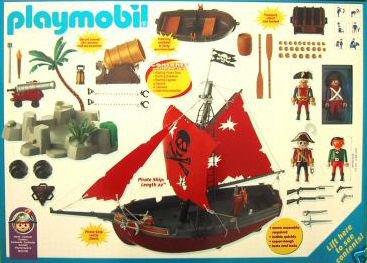 06 navire barque 3133 bateau pirate ilot photo - Bateau corsaire playmobil ...