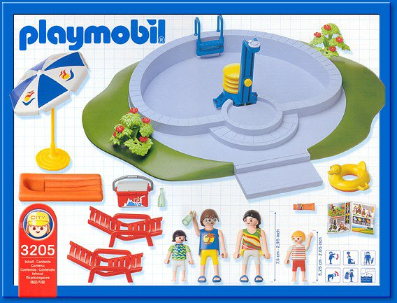 9b maison moderne exterieur 3205 famille piscine photo for Piscine playmobil 3205