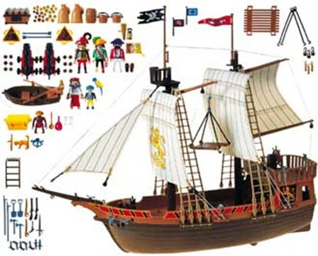 06 navire barque 3750 bateau pirate photo archive article playmobil. Black Bedroom Furniture Sets. Home Design Ideas