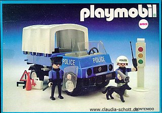 24c policiers vehicules 3939 camion de police bach photo archive article playmobil - Playmobil camion police ...