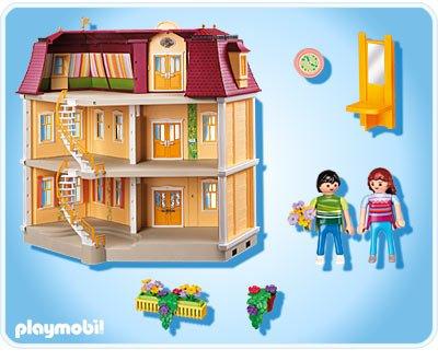 08 habitat 5302 maison de ville 7483 7484 photo for Piscine maison moderne playmobil