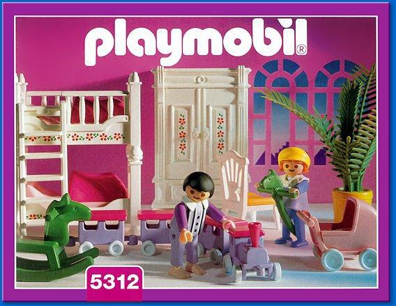 08a interieur exterieur 5312 chambre des enfants 1900 - Playmobil chambre enfant ...