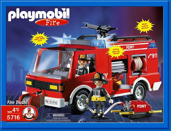 27b pompiers us 5716 camion de pompier us photo archive - Playmobil pompiers ...