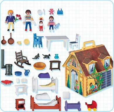 9 maison moderne 5763 4145 maison de famille transportable photo archive article playmobil. Black Bedroom Furniture Sets. Home Design Ideas