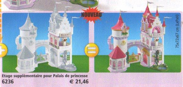 5 royaut monarchie 6236 etage suppl mentaire pour 5142 for Chateau princesse playmobil 5142