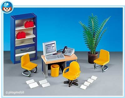 9a maison moderne interieur 7224 bureau quip photo archive article playmobil. Black Bedroom Furniture Sets. Home Design Ideas