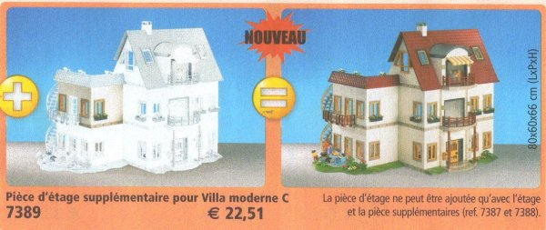 Playmobil Maison Moderne 4279 : Piece supplementaire maison moderne playmobil