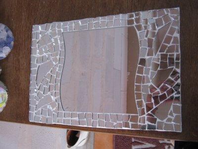 Mosaique avec des miroir que jai cass blog de mikamosaic for Miroir casse