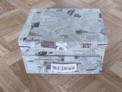 Boite bijoux en carton blog de clem creations - Decorer boite carton pour anniversaire ...