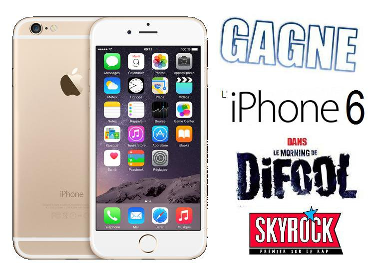 L' iPhone 6 a gagner chez Difool sur Skyrock !