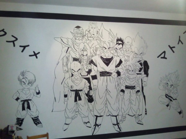 Chambre dragon ball z blog de decoration chambre for Decoration murale dragon ball