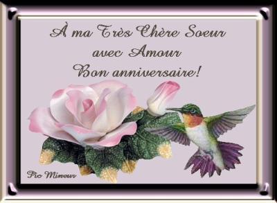 Bonne Anniversaire Ma Soeur