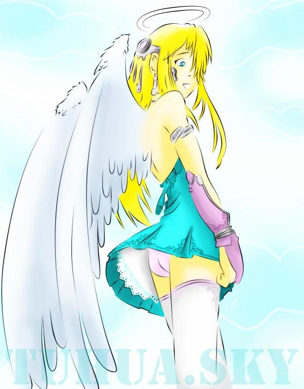 Ange gardien dessin de tuhua - Dessin d ange gardien ...