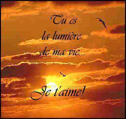 Tu es la lumiere de ma vie je t 39 aime blog de tite for Tu es le miroir de ma vie