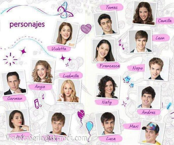 Les personnages de violetta - Violetta saison 2 personnage ...